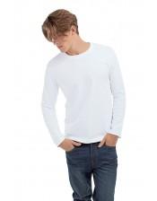 Koszulka z długim rękawem biała